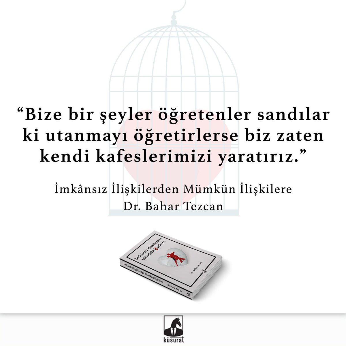 Kitap Önerisi: İmkansız İlişkilerden Mümkün İlişkilere, Dr. Bahar Tezcan